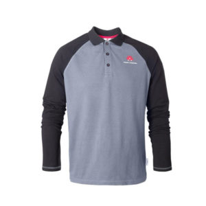 Long-sleeved raglan polo shirt
