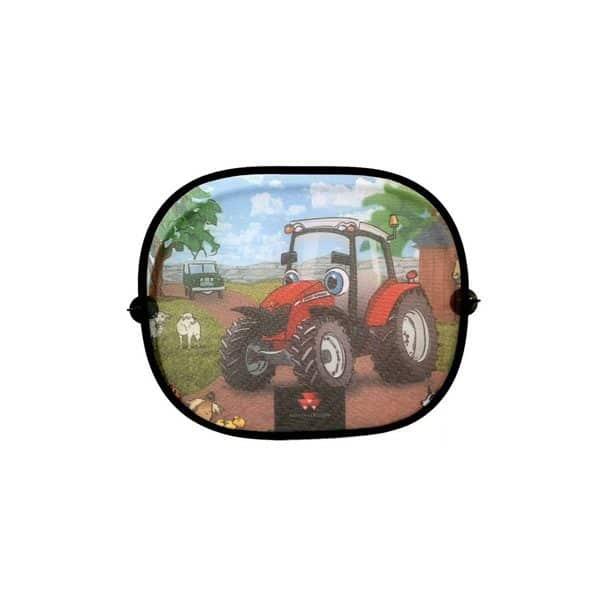 Sonnenschutzblenden mit lustigem MF Traktor Design