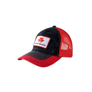 Cap red/black