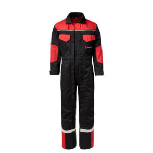 BLACK AND RED CHILDREN'S DOUBLE ZIP OVERALLS