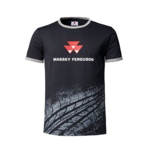 MEN'S T-SHIRT WITH TYRE TRACK PRINT