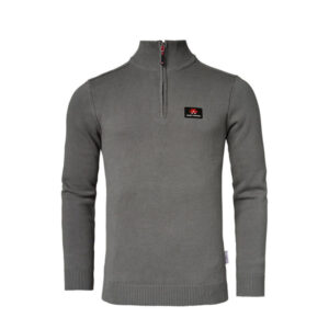 MEN PULLOVER WITH BAND COLLAR